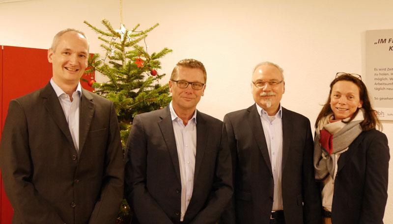Marco Molitor, Vorstand dbh Logistics IT AG | Michael Peter, Geschäftsführer TA-LOGISTICS Software GmbH | Werner Kiese, Geschäftsführer TA-LOGISTICS Software GmbH | Maren Schulz, dbh Logistics IT AG