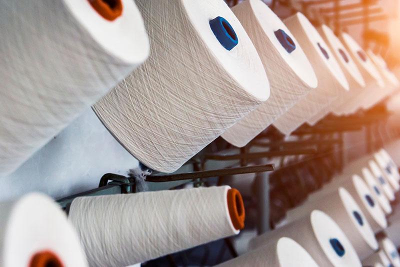 Rollen aus industriellem Baumwollgewebe