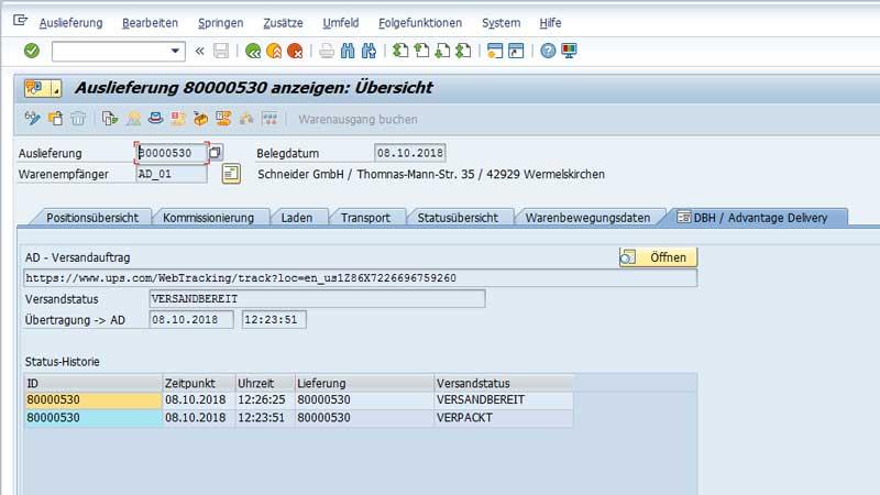 SAP Plug-In Versand 2