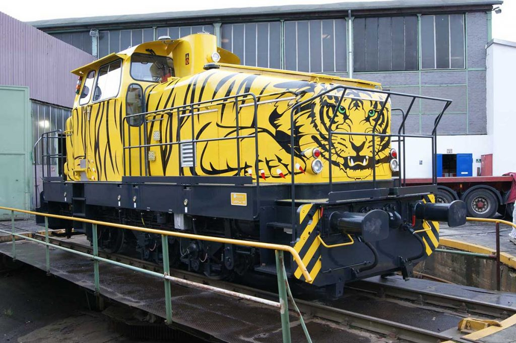 Testing at JadeWeserPort Wilhelmshaven: Fully automatic shunting locomotives 1