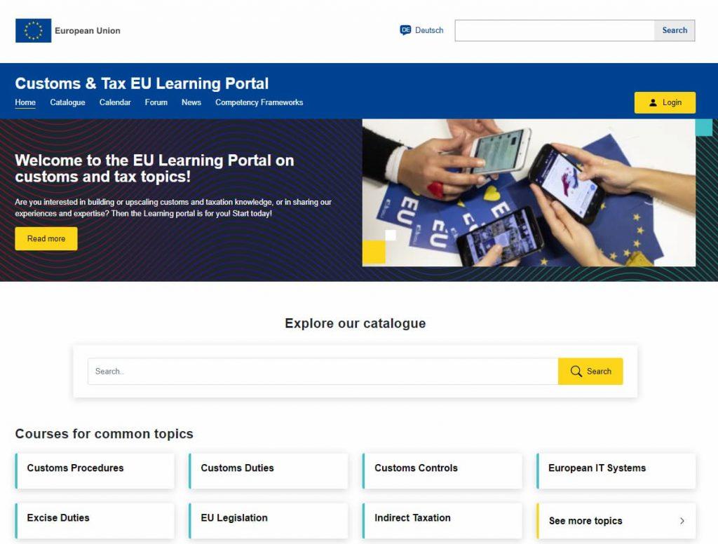 Lernportal der EU zum Thema Zoll 1