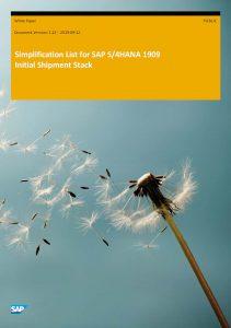 SAP Simplification List